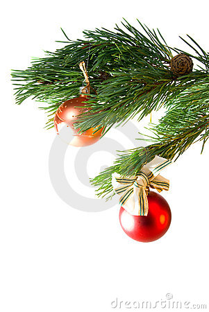 Christmas tree ornaments, wo colour balls
