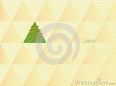 Christmas tree in retro style