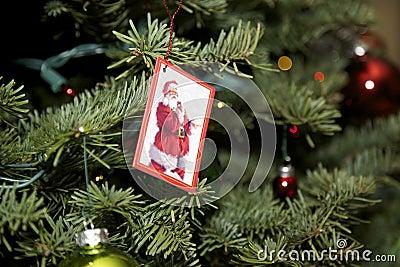Christmas Tree with Santa Card