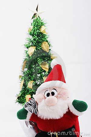 Free Christmas Tree & Santa Claus Doll Stock Images - 1581164