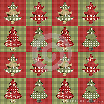 Christmas tree  seamless pattern 1