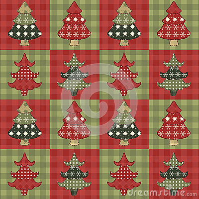Christmas tree  seamless pattern 2