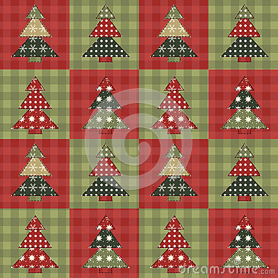 Christmas tree  seamless pattern 3