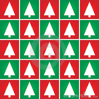 Christmas tree seamless pattern background.