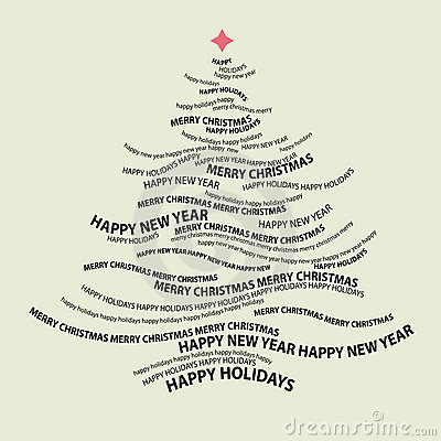 Christmas tree shape from words