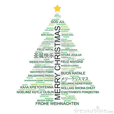 Free Christmas Tree Shaped From Type Royalty Free Stock Photo - 21863495