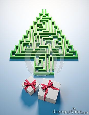 Christmas Tree shaped maze