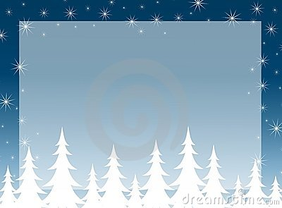 Christmas Tree Silhouette Background