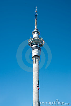 Christmas Tree on Skytower Editorial Image