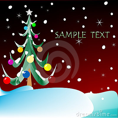 Christmas tree with space for text