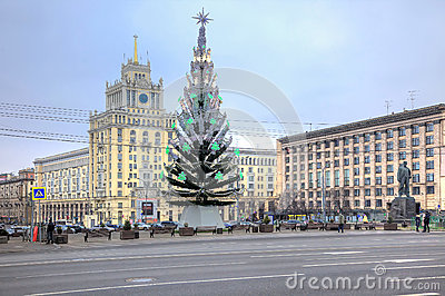 Christmas tree in the square
