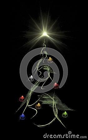 Free Christmas Tree & Star Stock Photo - 257960