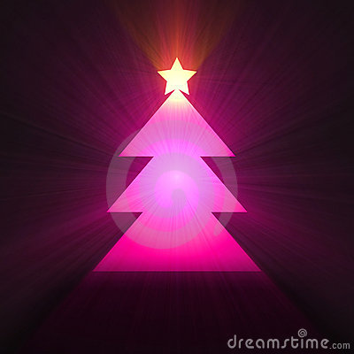 Christmas tree with star light halo