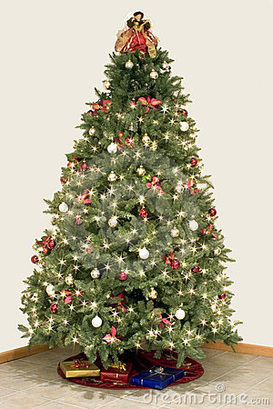 Free Christmas Tree Star Effect Stock Photography - 47682