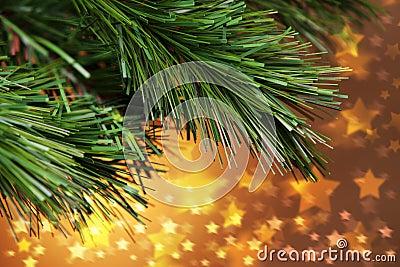Christmas Tree Stars Background