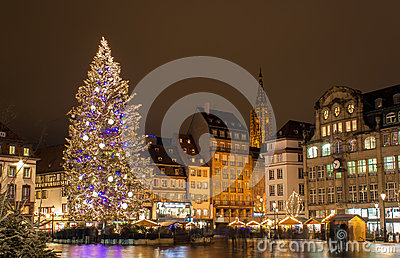 Christmas tree in Strasbourg