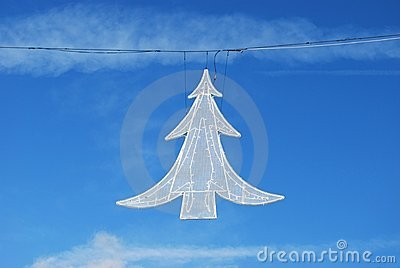 Christmas tree street light decoration