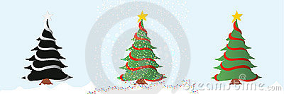 Christmas tree/vector