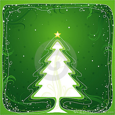 Free Christmas Tree, Vector Royalty Free Stock Photography - 3305697