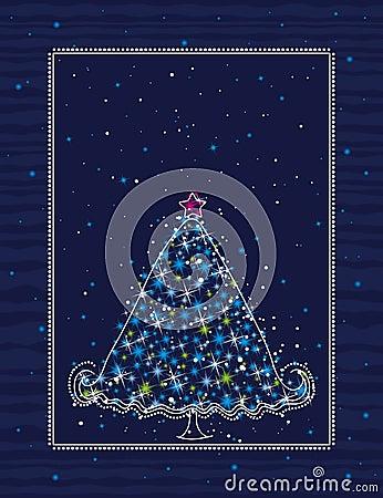 Christmas tree, vector