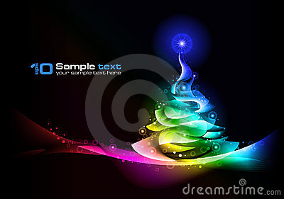 Christmas tree. Vector abstract design.