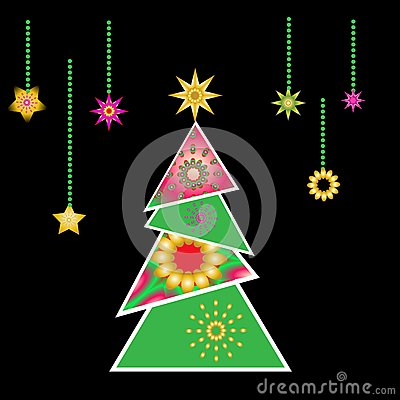Christmas tree vector x-mas design element