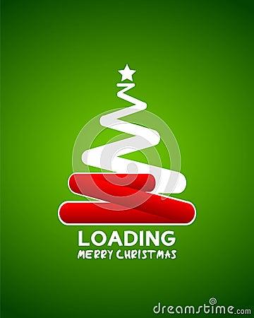 Free Christmas Tree Web Loader Waiting Concept Royalty Free Stock Photo - 30683075