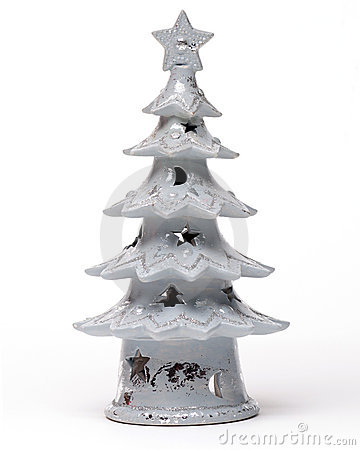 Christmas tree on white