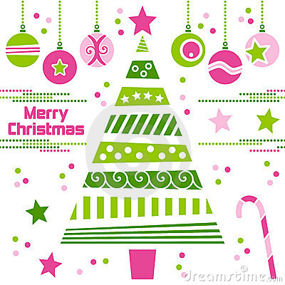 Free Christmas Tree With Balls Royalty Free Stock Photography - 11709617