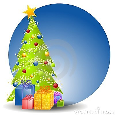 Free Christmas Tree With Gifts 2 Royalty Free Stock Photography - 3424837