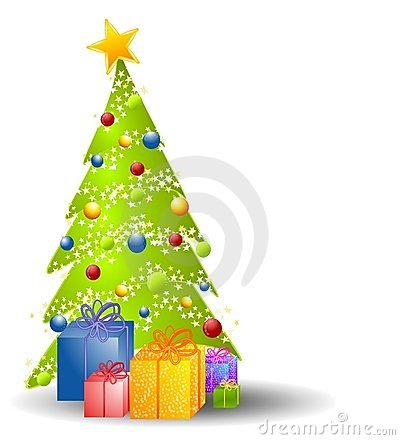 Free Christmas Tree With Gifts Stock Photos - 3424833