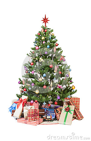 Free Christmas Tree With Presents Royalty Free Stock Photography - 26533577