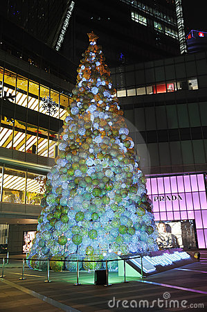 Christmas tree in Yanlord Landmark Editorial Image