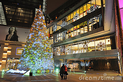 Christmas tree in Yanlord Landmark Editorial Photography