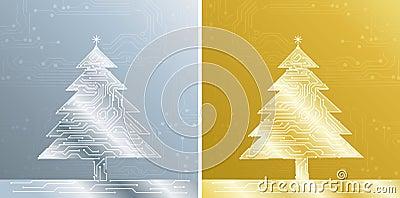 Christmas treee, vector