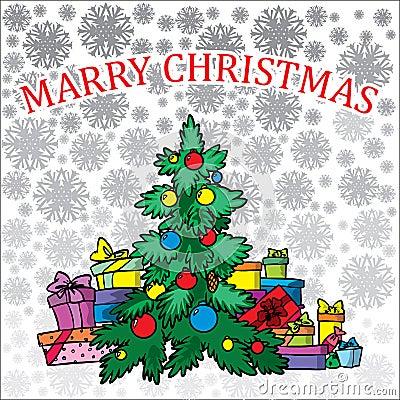 Christmas treeon white background