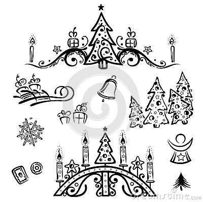 Christmas, trees, angel