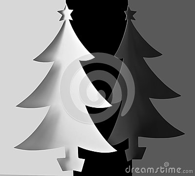 Free Christmas Trees Background Royalty Free Stock Images - 27150389