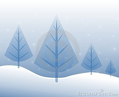 Christmas Trees in Blue