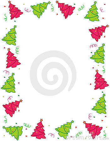 Christmas trees border / frame