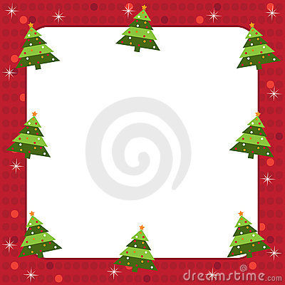 Free Christmas Trees Frame Royalty Free Stock Images - 16264069