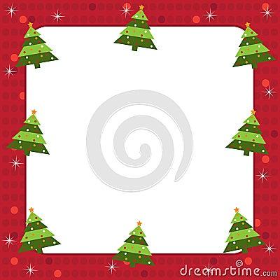 Christmas trees frame
