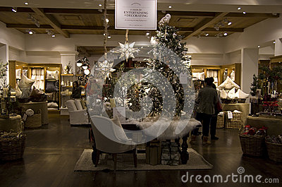 Christmas trees home goods store Editorial Photography