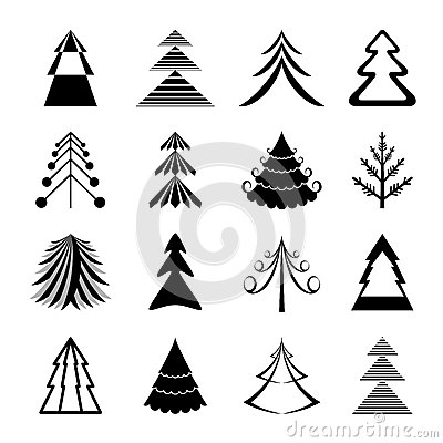 Christmas trees icons