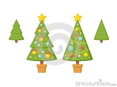 Christmas Trees Illustration Stock Vector - Image: 61243412