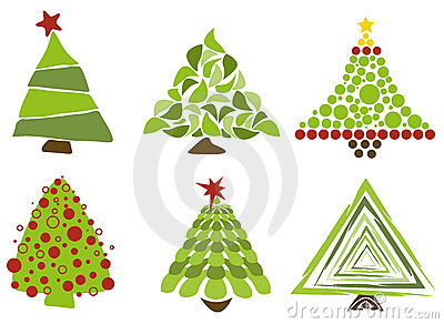 Christmas trees isolated