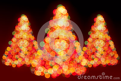 Christmas trees lights