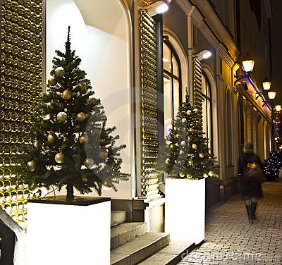 Christmas trees, Moscow Editorial Photography