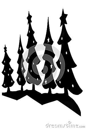 Christmas Trees/Silhouette