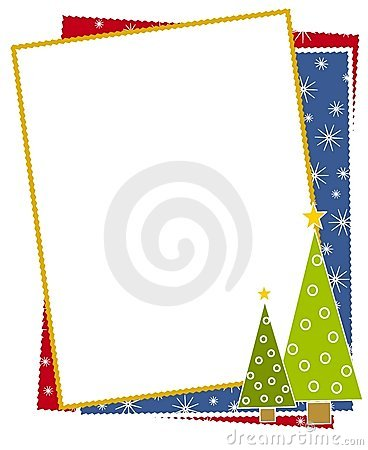 Free Christmas Trees Snow Border Royalty Free Stock Photo - 3550915